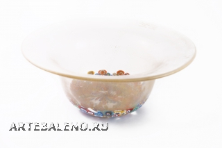 1629/GP Кубок больш. овальный с мурринами разл.цвета д.29