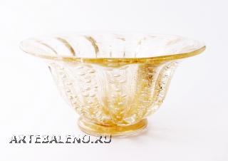 21/GP Кубок с пузырьками прозрачно-золот. с золот.отделкой д.22