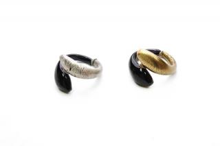 DM09b Браслет с золотой или серебряной половиной муранское стекло