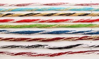 Ожерелье микробисер и стеклярус 9 рядов двухцветное 52см различные цвета