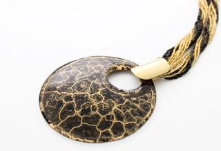 NV01 Подвеска Бонди' диаметр 8см цвет черно-золотой