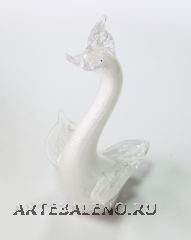 629/B Статуэтка Лебедь с распахнутыми (выс. 24см) муранское стекло
