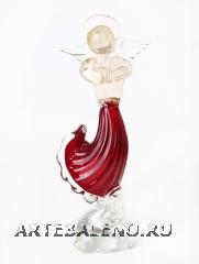 639/С Статуэтка Ангел на подставке (выс. 27см) муранское стекло