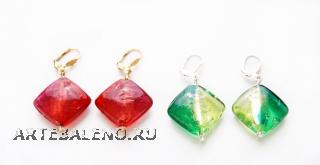 Co11-21-22/maz Серьги 4 цвета Laura Biagioti муранское стекло