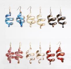 NV01-03-04-06-07-14 Серьги Спираль Бонди' 6 различных цветов