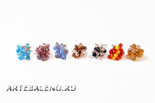 N.41/maz Кольцо Гроздь муранское стекло