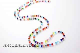 2012-21/maz Колье 150 см мультиколор муранское стекло