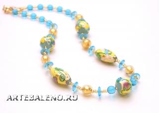 2012-59/maz Колье Летний полдень 52см муранское стекло