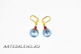 2012-70/maz Серьги муранское стекло