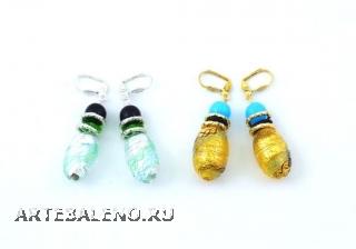 2012-75/maz Серьги 2 цвета муранское стекло