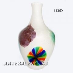 443/D Ваза с узким горлом и дизайнерскими мурринами муранское стекло