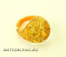 NV16 Кольцо Бонди' цвет золотой муранское стекло