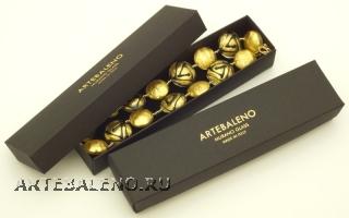 Коробка длинная 22х5х3,5см для колье, браслетов, часов с надписью Artebaleno