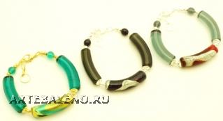 2012-67/maz(2) Браслет с бусинами-тубами новые 3 цвета муранское стекло