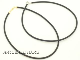 Ожерелье каучук черный толщина 5 мм длина 60cm