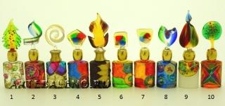 B01 (7) Флакончик Венецианский карнавал h8-14см серия Винтаж муранское стекло