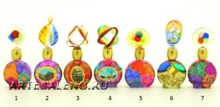 B01 (12) Флакончик Венецианский карнавал h8-14см серия Винтаж муранское стекло
