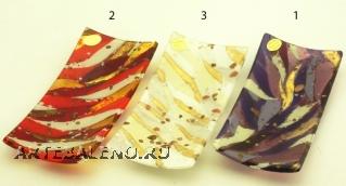 ISV25(1) Блюдце декоративное 20х10см 6 цветов муранское стекло