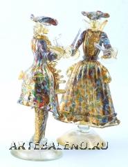 MD20 Венецианская пара 18 века с мурринами и золотом h24cm