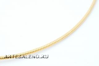Цепочка Омега металлическая родированная цвет золото