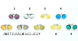RD20 Серьги-гвоздики 9 цветов муранское стекло
