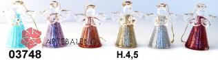 03748 Ангелы стеклянные 4,5см сет 6 шт