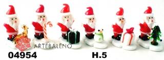 04954 Дед Мороз на подставке 5см сет 6 шт