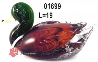 SM01699 Статуэтка Утка зеленая шейка 20 см