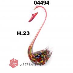SM4494 Статуэтка Лебедь с мурринами цвет красный 23см