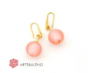 2018-22 Серьги Розовый аметист муранское стекло