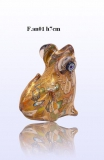 F.an01 Лягушка (выс. 7см) муранское стекло