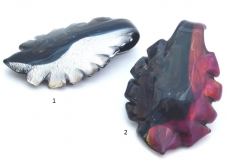 ZN07F Подвеска-листок Кальцедон с разрезами с двух сторон 7 цветов муранское стекло