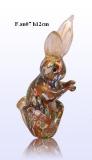 F.an07 Статуэтка Заяц (выс. 12,5см) муранское стекло