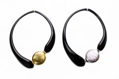 DM05 Колье с золотой или серебряной бусиной муранское стекло
