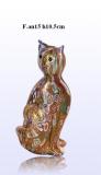 F.an15 Кошечка с мурринами и золотом (выс. 10,5см) муранское стекло
