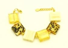 CL10/B01 Браслет муранское стекло цвет золото-слоновая кость