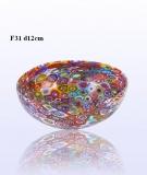 F31 Блюдо маленькое круглое диам.12cm муранское стекло