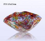 F33 Блюдо маленькое квадратное 13cm муранское стекло