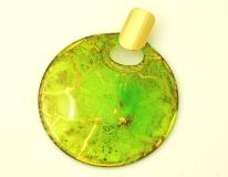 NV15 Подвеска Бонди' диаметр 8см цвет зелено-золотой