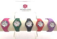 Часы кварцевые с мурринами силиконовый ремешок 5 цветов