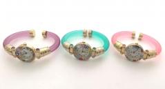 Часы кварцевые с мурринами пластиковый браслет 4 цвета