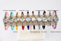 Часы кварцевые с мурринами пластиковый браслет 10 цветов