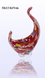 Mz13 Ладья для свечи или ароматической палочки (выс. 15см) муранское стекло