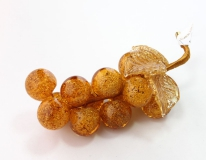 533/I Виноградная гроздь с 13 ягодами (дл. 15см) муранское стекло