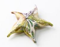 637/U Статуэтка Морская звезда с мурринами (длина 10см) муранское стекло