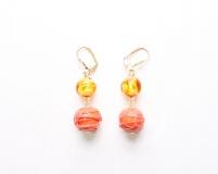 Co11-11/maz Серьги Оранжевый рай муранское стекло