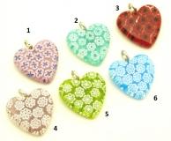 Mur9 Сердце из мурринок 25 мм различные цвета