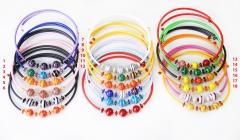 2012-10/maz Колье Joy на цветном каучуке 18 цветов муранское стекло