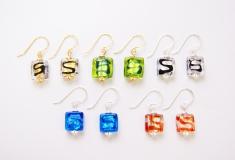 S1014/maz Серьги 6 цветов муранское стекло