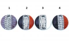 Zn21 Подвеска Винтаж диаметр 5см муррины модерн и баттуто муранское стекло